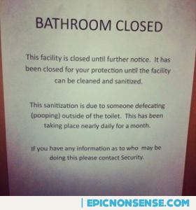 Dorm Bathroom Closed