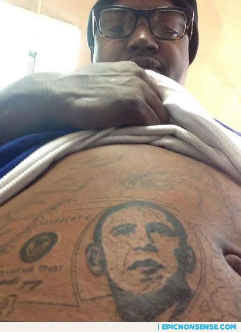 Lil Scrappy Obama Tattoo