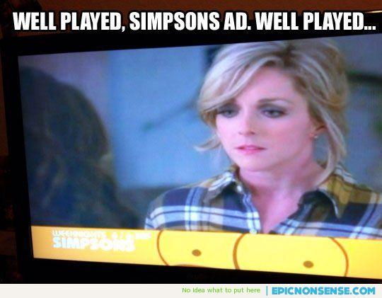 Simpsons Boob Ad