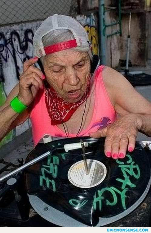 DJ Blue Hair
