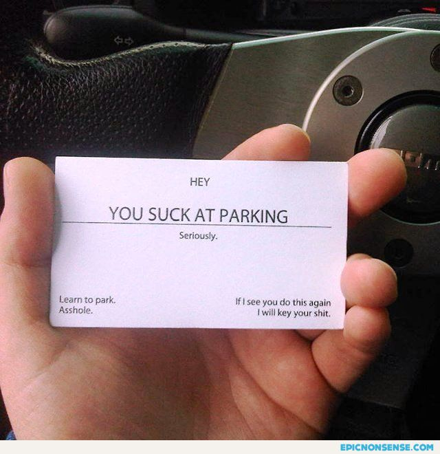 You Suck At Driving Card