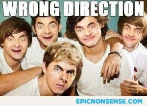 One Direction and Mr. Bean
