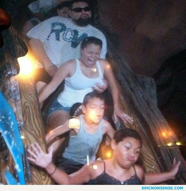 Boob Grab on Rollercoaster