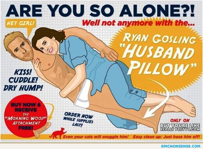 Ryan Gosling Husband Pillow