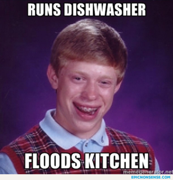 Runs dishwasher