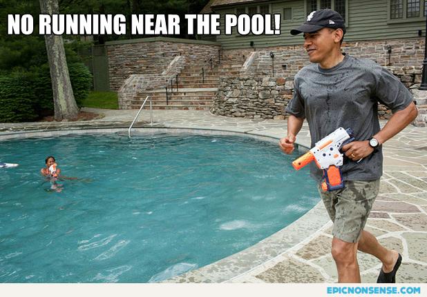 No running near the pool!