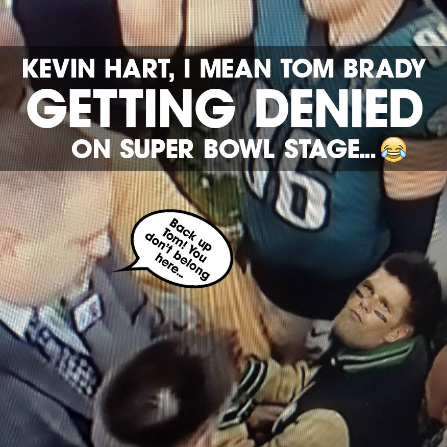 Kevin Hart denied on Super Bowl Stage Tom Brady
